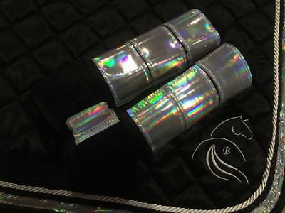 Holographic or Rainbow Sling Boots Full Size