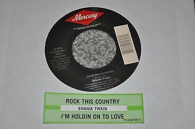 """Shania Twain """"Rock This Country"""" & """"Holdin' On to Love"""" LP 45RPM 7"""" + now w/gift"""