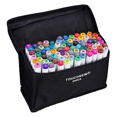 80 Colors Artist Dual Head Sketch Markers Set For Manga Marker F6D5