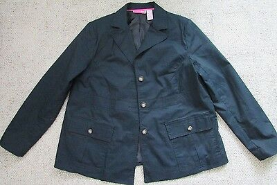 Liz Lange Size 14 Maternity Blazer Jacket Lined Long Sleeve Dark Navy Blue
