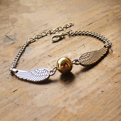 Harry Potter Armkette Anhänger Goldener Snitch Schnatz Quidditch Gold Neu