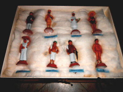 8 very RARE hand painted world war 1 turkish figurines must see mint state