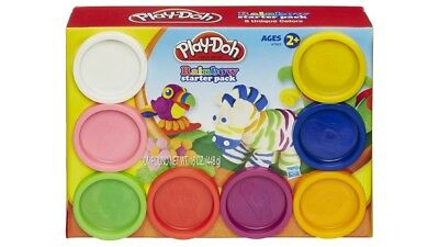 Play-Doh Children Modelling Clay Dough Rainbow Starter Pack - 8 Cans - Various