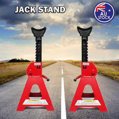 2pcs Car Jack Stand 3T 3000kg Ratchet Adjustable Lift Hoist Heavy Duty Steel AU