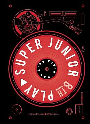 SUPER JUNIOR - PLAY [Black Suit ver.] (Vol.8) CD+Booklet+Poster+Free Gift