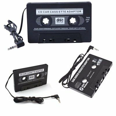 Car Cassette Tape Adapter Converter for MP3 iPod iPhone 4S Touch Nano CD Black E