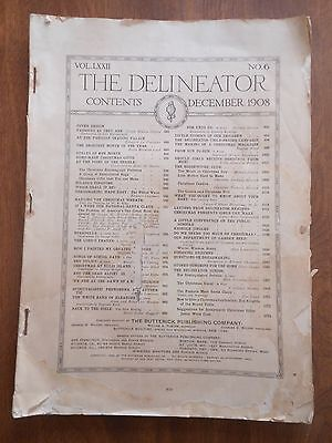 The Delineator 1908 v IXXII No 6 Vintage Antique Prints Advertisements Magazine