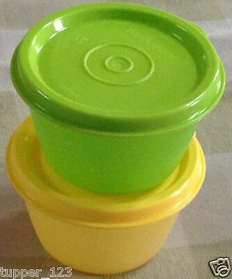 Tupperware Junior Bowled Over Set of  2 in 2 Different Colors-New-Free Shipping