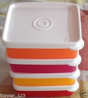 Tupperware Square Away - Mini (190 ML Each )-New Set of 4 in multi colors