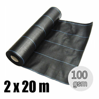 heavy duty 2m x 20m ground cover fabric landscape garden weed control membrane