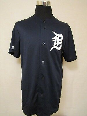 MLB Detroit Tigers LGE Embroidered HOME Practice Baseball Jersey by Majestic