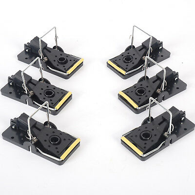 MLG Tools Pack of 6 Mouse Trap Reusable and Easy to Use Snap Traps Mice Trap