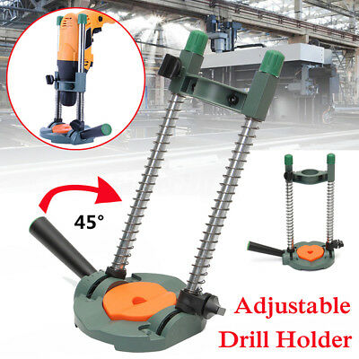 Precision Drill Hole Jig Guide Adjustable Cordless Drill Holder Woodworking Tool