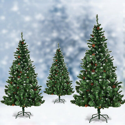 5ft 6ft 7ft Artificial Christmas Tree Cone Snow Covered Large Xmas Trees Fence