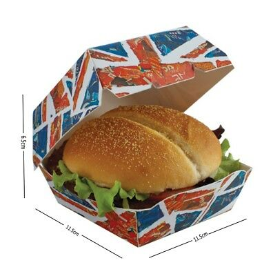 Britain Union Jack - Disposable Clamshell Burger Box - Shop Takeaway Boxes