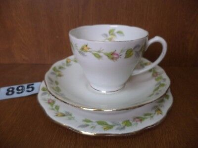 Vintage Roslyn Bone China NOSE GAY Tea Trio - Cup / Saucer / Side Plate