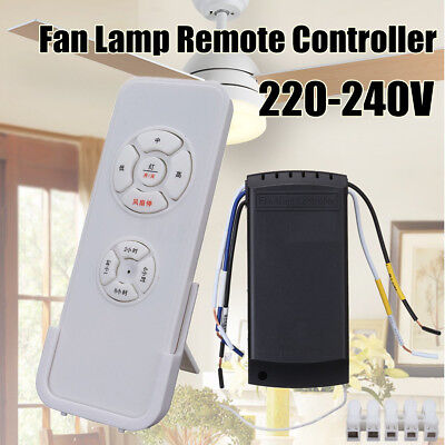 220-240V 1000w Universal Ceiling Fan Lamp Remote Controller Kit &Timing Wireless