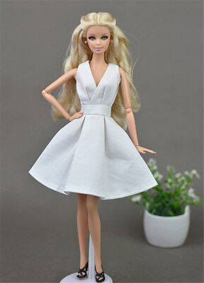 1 Set Fashion White Evening Party Princess Dress for 11.5in.Doll Xmas Gifts C19
