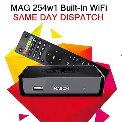 Infomir MAG 254 w1 IPTV Set Top Box with Built-In onboard integrated wifi wlan