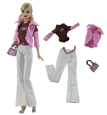 4in1 Set Fashion Casual Dress Suits Clothes For 11.5in.Doll Xmas Gifts C24