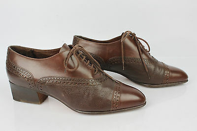 Derby Shoes Richelieu Stephane Kelian Paris all Brown Leather UK 4/Fr 37,5 Very