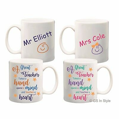 Personalised Great Teacher Mug Thank You Gift Tea Coffee Cup School Present Cup