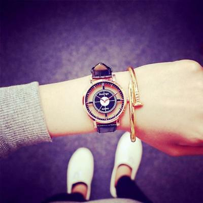 Fashion Women's Faux Leather Dial Quartz Wrist Watch Ladies Casual Dress Watches