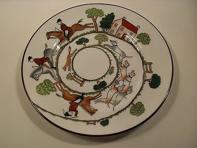 Crown Staffordshire Side Plate - Hunting Scene 16 cm