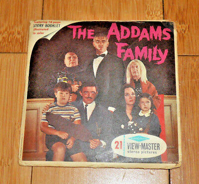 The Addams Family Viewmaster Reels Set B486 - Very Rare Vintage 1965   A020
