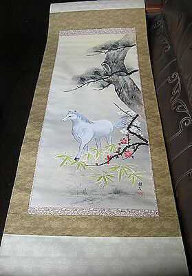 japanese hanging scroll  Title :White horse