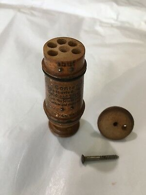 Antique Piccadilly Wood Sewing Needle Case Collectible