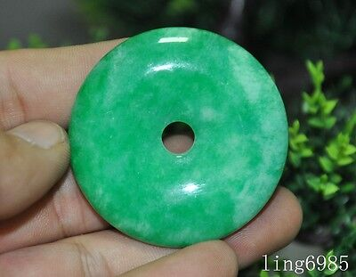 Collection Chinese Hand carved fine jade Ping An buckle lucky amulet Pendant