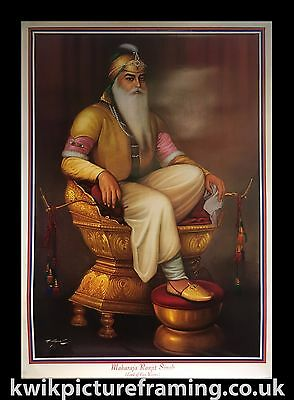 "Large Maharaja Ranjit Singh Ji King Of Punjab In Size - 40"" X 28"" inches"