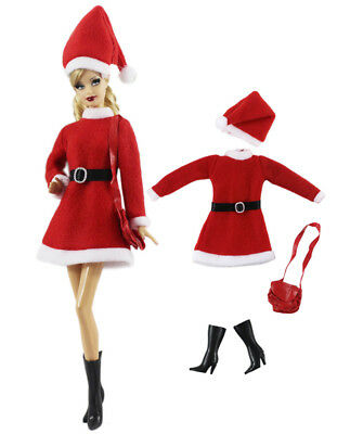 4in1 Set Fashion Casual Dress Suits Clothes For 11.5in.Doll Xmas Gifts C40