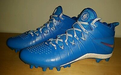 New Nike Huarache 4 LAX LE LaCrosse Cleats Men's  size 10 Blue White