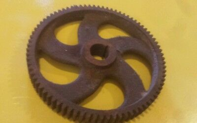 One Vintage Barn Find Gear Driven Cast Iron Industrial Wheels Steampunk Pulley