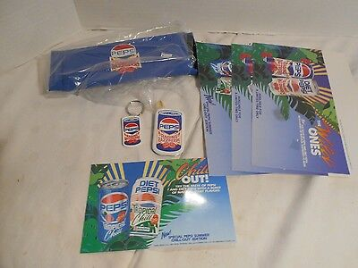 Collectible Mixed lot of Pepsi Cola Raging Razzberry Misc Items