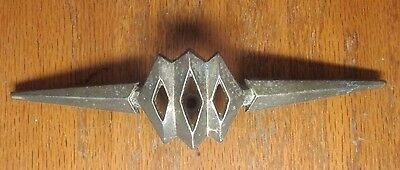 "1 unique vintage aged brass plated KBC cabinet drawer pointy pull handle 2-1/2""C"