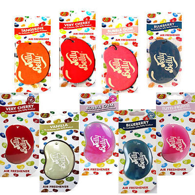 Jelly Belly Bean 2D & 3D Air Freshner For Car Office Home Van Truck all Flavour