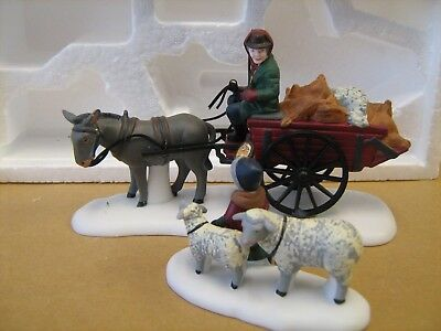 Dept 56 Dickens Village Bringing Fleeces to the Mill #58190