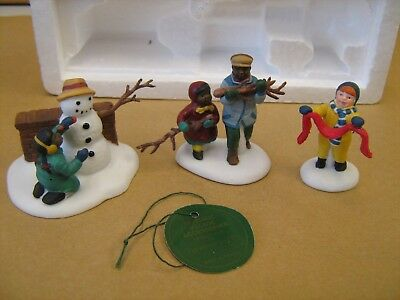 Dept 56 Dickens Village Playing in the Snow Set of 3 #55565