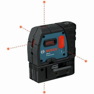Bosch Tools GPL5-RT 5-Point Class II 1mW Self-Leveling Alignment Laser
