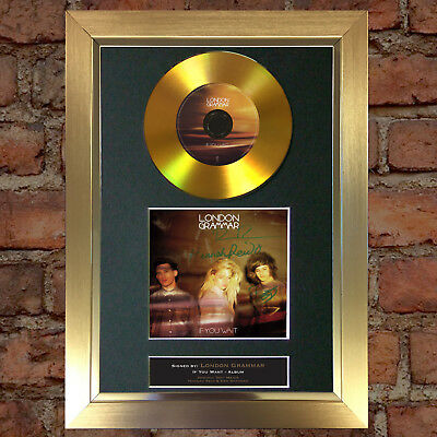 GOLD DISC LONDON GRAMMER Signed CD Mounted Repro Autograph Print A4 118