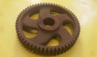 A  Vintage Barn Find Gear Driven Cast Iron Industrial Wheels Steampunk Pulley