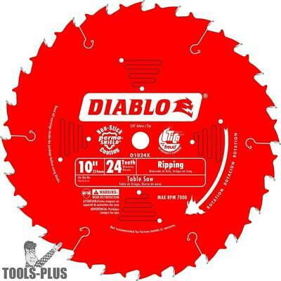"""Diablo D1024X 10"""" x 24 Tooth Ripping / Framing Blade New"""