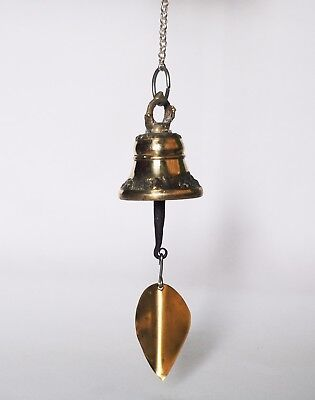 Traditional Brass Nepalese Temple Wind Bell 4.5 cm diameter