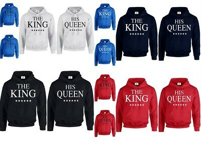 THE KING AND HIS QUEEN MINE HOODIE JUMPER valentines day Couple Matching (HOOD)