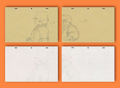 Akira Genga Drawing Set for Anime Cel Kaneda Kei at Police Station COA Otomo アキラ