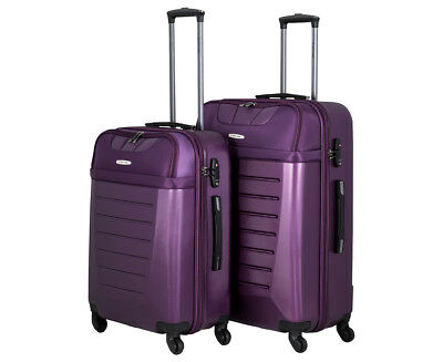 Pierre Cardin 2-Piece 4W Luggage Set - Purple