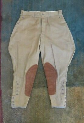 "Vintage 1940's Riding Jodhpurs or Britches 30"" Waist Whipcord"